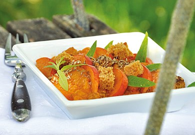 Poêlée d'abricots au pain d'épice